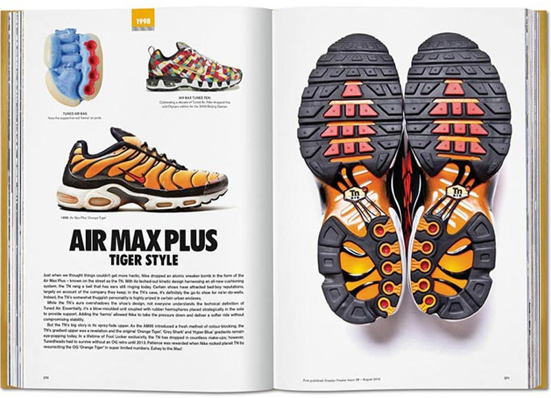 Der AIR MAX PLUS tiger style im The Ultimate Sneaker Book - RAUM concept store