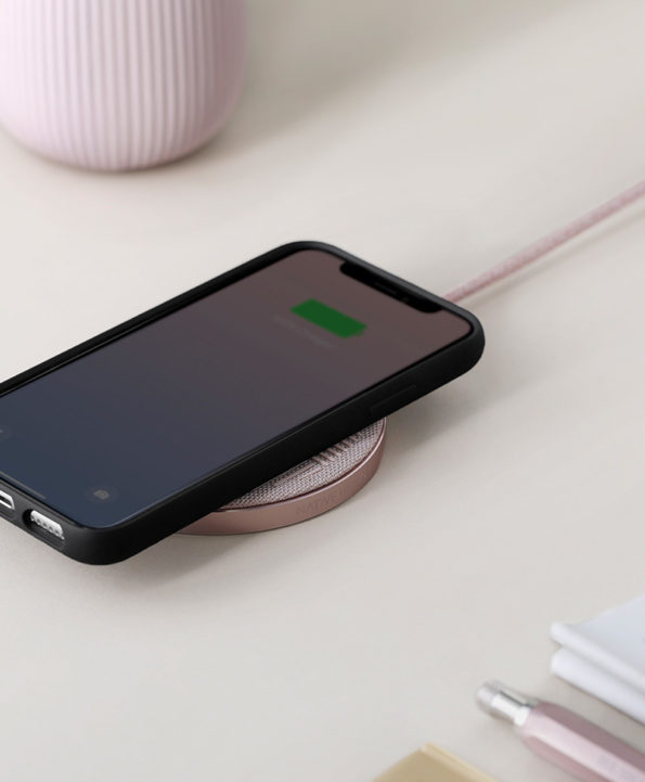 Ladepad Drop Wireless Charger Native Union - Drop rose - at RAUM concept store