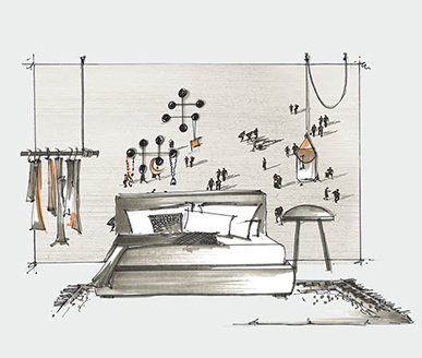 Bedroom Style Floating City - Shop the Look - at RAUM concept store