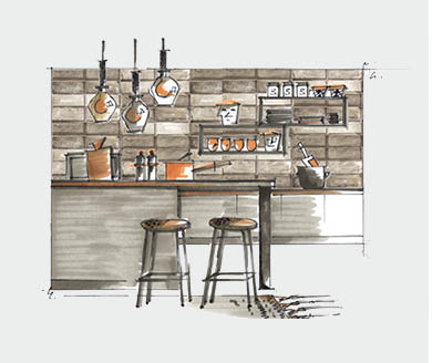 Shop the Look - Kitchen Styling Wooden Panel - at RAUM concept store